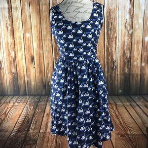 ModCloth Retrolicious Swan Song Blue Dress